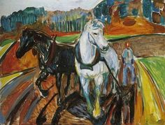"Edvard Munch - ""Horse Team"" - 1919"