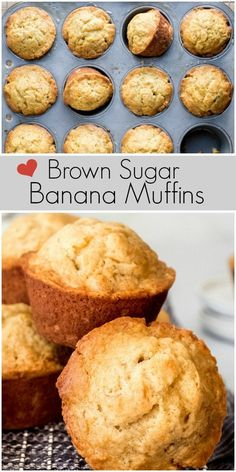 This recipe for Brown Sugar Banana Muffins turns out a moist and tender breakfast muffin. Brown Sugar Fudge, Brown Sugar Frosting, Brown Sugar Oatmeal, Brown Sugar Cookies, Brown Sugar Banana Bread, Cinnabon, Cookie Exchange, Shortbread, Cinnamon Pop Tart