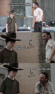 Even Rick Grimes from The Walking Dead can make foot puns! The 19 Greatest Dad Jokes From Rick Grimes Walking Dead Funny, Walking Dad Jokes, Walking Dead Coral, Carl The Walking Dead, Best Dad Jokes, Funny Memes, Hilarious, Twd Memes, Sarcastic Memes