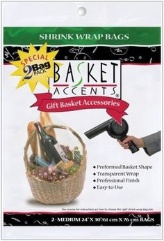 Photo Frog Basket Accents Shrink Wrap Bags Small - Clear for sale online Online Craft Store, Craft Stores, Large Bags, Small Bags, Pull Bows, Cellophane Wrap, Shrink Wrap, Order Up, Medium Bags