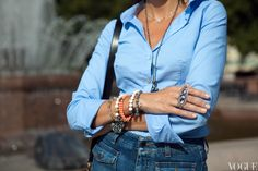 Снежана Георгиева  // Рубашка, Benetton; джинсы, Stella McCartney