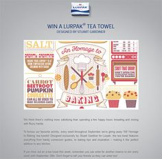 Win a Lurpak tea towel and other prizes in the Lurpak prize draw.