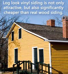 Benefits of log look vinyl siding