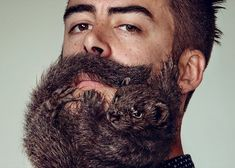 """2014 is officially the year of the beard, but these men have taken it to the next level – by having animals sculpted into their facial hair."""