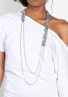 Crochet Chain Necklace by Minzer 30 00 ThreadSence com Your Spot For Indie Clothing Indie Urban Culture - Stylehive