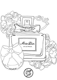Mademoiselle Stef - Blog Mode, Dessin, Paris | Coloriage : Miss Dior | http://www.mademoisellestef.com