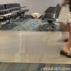 Who doesn't like a nap at the airport? From FreakJet photos...