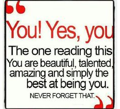 You are amazing :)