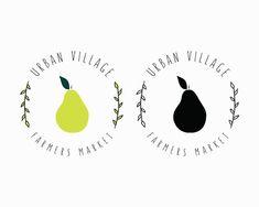 New Fruit Logo Design Ideas Etsy Ideas Juice Logo, Paper Fruit, Honey Lime Dressing, Logo Minimalista, Fruit Logo, Modern Logo, Modern Minimalist, Fruit Shop, New Fruit