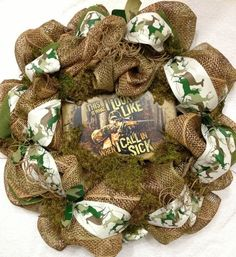 Hunting Deco Mesh Wreath