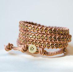 Beaded Leather Wrap Bracelet | AllFreeJewelryMaking.com