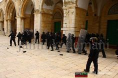 Jan 24, 2012 - Clashes erupted at alAqsa mosque after a week of heightened tension amid fears that extremist Jews would try to forcibly enter the mosque after fliers were distributed in Jerusalem advocating the removal of Muslims from the site. It was also the 18th anniversary of the attack by right wing, Isreali-American Baruch Goldstein on unarmed worshipers at the Ibrahimi Mosque in Hebron. 29 Palestinian worshipers were killed and 125 wounded at dawn prayers during the holy month of…