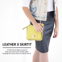 #Leather is always a good alternative to a Black Pencil ✔️