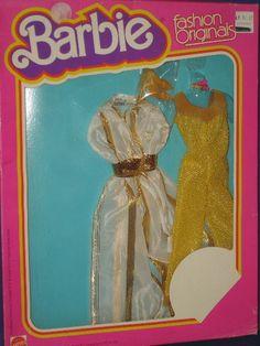 Barbie Doll Golden Glamour Outfit Superstar Era MIB Fashion Originals 1978   eBay