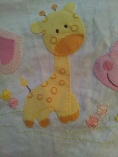 Aplique para lencol de bebe
