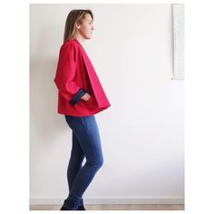 This is the second Wiksten Haori (Wiksten Kimono) I've made and I just adore this pattern. I made this one in red, washed linen and I couldn't be happier with how it turned out. Lauren Taylor, Just Love, Thrifting, Two By Two, Kimono, Bell Sleeve Top, It Is Finished, Sewing, Sweet