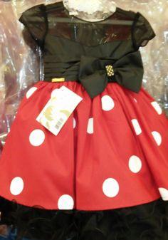 Vestido Minnie Preto e Vermelho REF: MB71410