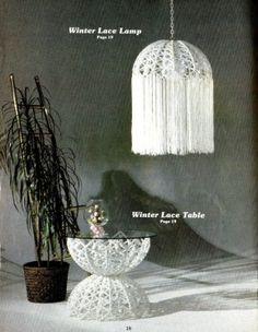 Vintage Macrame Enchantment 24 Patterns Designs Furniture - macrame tables - Google Search