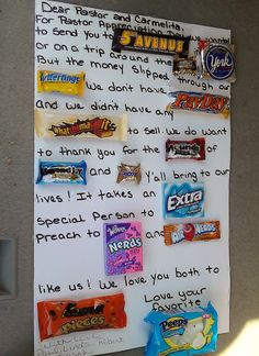 poster board ideas for pastor appreciation Birthday Candy Grams, Pastor Appreciation Gifts, Appreciation Quotes, Childrens Sermons, Children Ministry, Youth Ministry, Pastor Anniversary, Gifts For Pastors, Pastors Wife