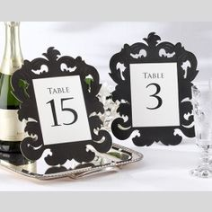Whether you're decorating your wedding celebration with a baroque theme or are adding vintage style to your Sweet 16 celebration, Self-Standing Decorative Black and White Table Numbers can add art and organization to your event. - See more at: http://www.topweddings.com/self-standing-decorative-black-and-white-table-numbers-1-15.html#sthash.2TrozV4c.dpuf