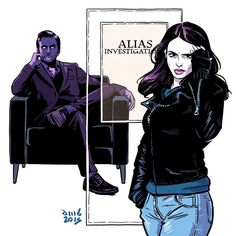 "583 curtidas, 19 comentários - David M. Buisán Illustration (@davidmbuisan) no Instagram: ""It's time the world knew her name. #JessicaJones #Marvel #marvelcomics #marveluniverse"""
