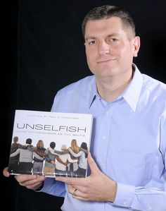 """Cache Valley author Paul D. Parkinson's book """"Unselfish: Love Thy Neighbor As Thy Selfie"""" is getting national attention. (Portrait by Eli Lucero)"""
