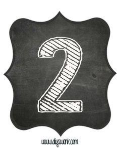 Chalkboard numbers - Chalkboard Letters for BannersFree Printable – Chalkboard numbers Chalkboard Numbers, Chalkboard Banner, Chalkboard Lettering, Free Printable Banner Letters, Free Printable Numbers, Free Printables, Printable Stencils, Printable Tags, Stencil Patterns Letters