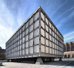 Beinecke rare books library, New Haven, CT.  Designed by Gordon Bunshaft of Skidmore, Owings and Merrill. Completed in 1963