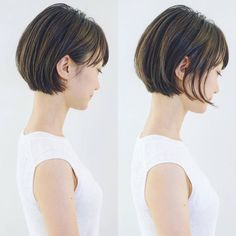 Pin on hair Chic Short Hair, Medium Short Hair, Very Short Hair, Short Hair With Bangs, Short Hair Cuts, Medium Hair Styles, Japanese Short Hair, Korean Short Hair, Shot Hair Styles