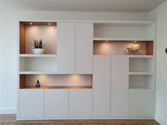 Living Room Cupboards, Living Room Built Ins, Dining Room Walls, Living Room Modern, Home Living Room, Home Room Design, Home Office Design, Living Room Designs, Cupboard Design