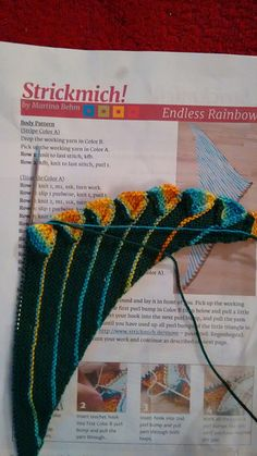 Best 12 Ravelry: Project Gallery for Endless Rainbow pattern by Martina Behm Knitting Short Rows, Baby Hats Knitting, Knitting Charts, Baby Knitting Patterns, Lace Knitting, Knitting Stitches, Knitting Designs, Knitting Projects, Knit Crochet