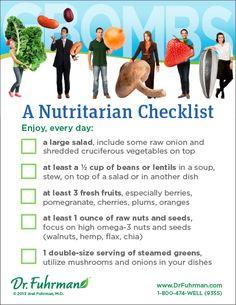 RawganicVegan - A Nutritarian Checklist