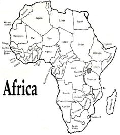 africa map coloring pages