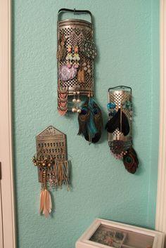 DIY earring hanger. People are geniuses!