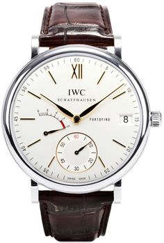 IW510103 IWC Portofino Hand Wound 8 Days Watch for Men Manual Movement Silver Dial