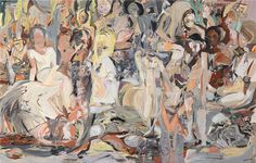 CECILY BROWN Untitled (Blood Thicker Than Mud), 2012 Oil on linen 109 x 171 inches (276.9 x 434.3 cm) @Gagosian Gallery