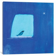 "Mercury Row Sky Window Painting Print on Wrapped Canvas Size: 12"" H x 12"" W x 0.75"" D"