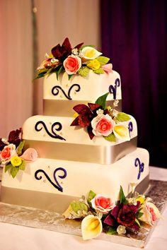 Wedding Cake by Helen G Events  wedding cake, jamaica, 3 tier wedding cake, square wedding cake, jamaica weddings