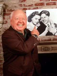 Hollywood legend Mickey Rooney dies Hollywood legend Mickey Rooney, who died Sunday at age shared a lifelong friendship with Judy Garland — and, it seemed, with all of the world. Let's look back at the irrepressible star's life. Old Hollywood Stars, Hollywood Actor, Golden Age Of Hollywood, Vintage Hollywood, Classic Hollywood, The Mick, Judy Garland, Silent Film, Classic Films