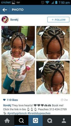 Curly short hair styles always look adorable on little girls. Natural Hairstyles For Kids, Kids Braided Hairstyles, Creative Hairstyles, Funky Hairstyles, Black Girls Hairstyles, Natural Hair Styles, Short Hair Styles, Children Hairstyles, Little Girl Braids