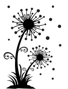 Darice® Embossing Folder - Dandelion Wish - x scrapbooking, card making, greeting cards, invitations and Silhouette Design, Silhouette Cameo, Machine Silhouette Portrait, Silhouette Projects, Flower Silhouette, Sgraffito, Dandelion Designs, Stencil Patterns, Digital Stamps