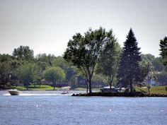 Cherry Point area of Lake Okabena from Centennial Park