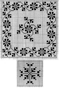 Cross Stitch Borders, Cross Stitch Charts, Cross Stitch Patterns, Knitting Patterns, Crochet Diagram, Filet Crochet, Graph Paper, Blackwork, Needlepoint