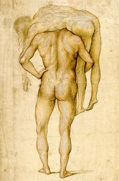 Luca Signorelli, Man Carrying Corpse on His Shoulders, circa 1500