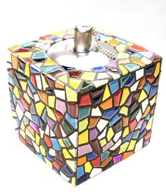 KIT - Magic Oil Lamp - An eye-catcher in classic styling with a modern twist. No cutting needed and this kit is a great way to start your mosaic adventure. As the base is ceramic this lamp can be used outside in warmer weather. (do not allow to freeze as small cracks may form) The oil lamp is included but not the lamp oil. #mosaic