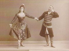 Julia and Felix Kschessinsky in the Polish Dance from the original Ivanov/Petipa 'Swan Lake' - 1895 Bolshoi Theatre, Bolshoi Ballet, Swan Lake Ballet, Ballet Companies, Russian Ballet, Russian Folk, Book Of Shadows, Cover Photos