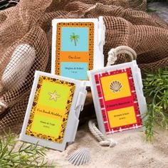 Personalized Beach Theme Notepad Wedding Favors