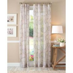 Better Homes and Gardens Floral Blossom Curtain Panel, Ivory - Walmart.com