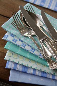 Napkins and silverware