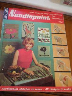 Mid Century Book on Needlepoint Retro 1967 by VintageJunkDrawerToo, $10.00